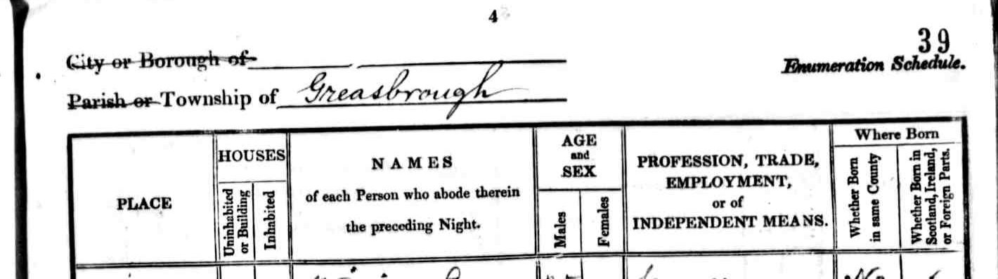 1841 census sample