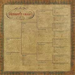 Pedigree chart for scrapbooking
